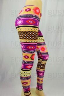 Women's SML Full Length Leggings, Purple, Gold, Cream, Red, go well with white blouse