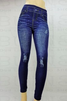 Women's SML Full Length Jeggings, Blue Denim, look fantastic with white sweater