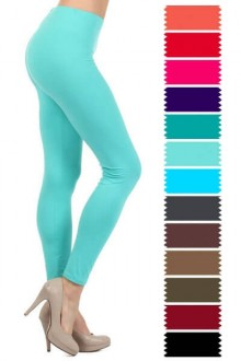Women's XL & Plus Full Length Leggings, Assorted Colors, go well with long contrasting top