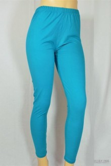 Women's SML Full Length Leggings, Mint Blue, will look well with contrasting plain kurti