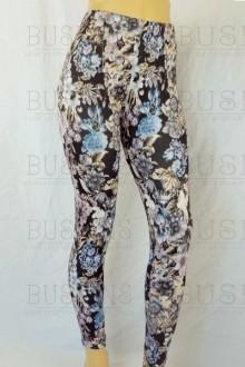 Women's SML Full Length Leggings, Black Base, Gold, Blue, Grey, add some pizazz to long t shirt