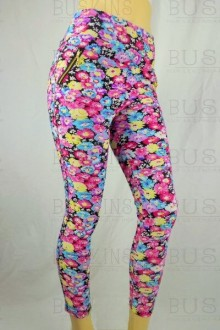 Women's SML Full Length Leggings, Pink, Blue, Yellow,Black, add some pizazz to black button down shirt