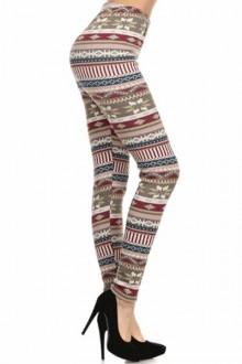 Women's SML Full Length Thermal Leggings, Beige, Grey, Blue, Burgundy, go well with black shrug