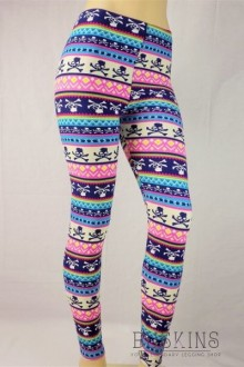 Women's SML Full Length Leggings, Blue, Pink, Black, White, go well together with cool looking plain vest