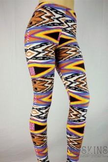Women's SML Full Length Leggings, Black, Blue, Orange, Gold, Red, White, will compliment long plain vest
