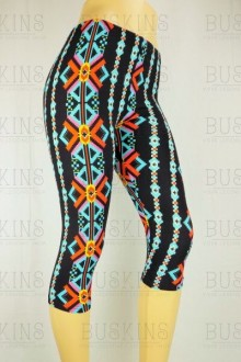 Women's SML Capri Pants, Black Base,Blue, Red, Yellow, Orange, will look fantastic with comfortable t-shirt